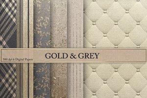 Gold & Grey Textures Digital Paper