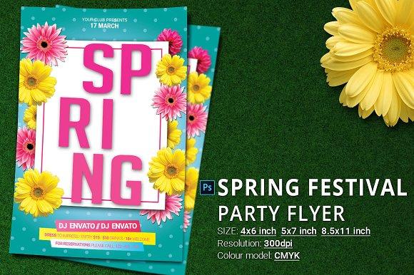 Spring Festival Break Party Flyer