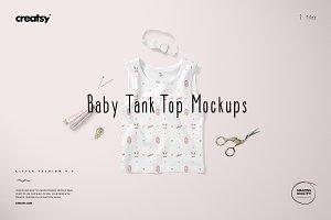 Baby Tank Top Mockup Set