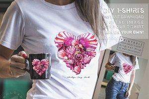 Ladies T-Shirts Design Digital Print