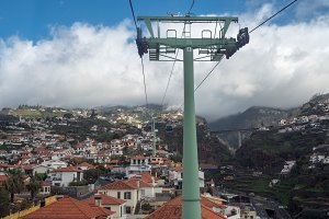 Cable car from Funchal to Monte in Madiera