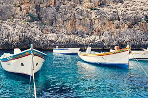 Maltese boats Luzzu