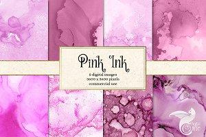 Pink Ink Textures