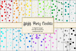 Bright Party Confetti Overlays