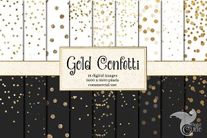 Gold Confetti Backgrounds