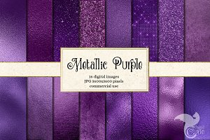 Metallic Purple Textures