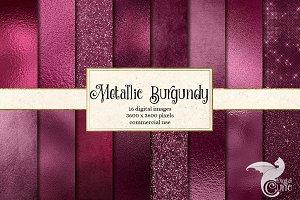 Metallic Burgundy Textures