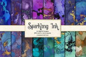 Sparkling Ink Textures