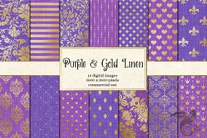Purple and Gold Linen