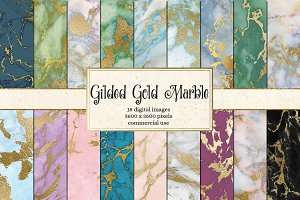 Gilded Gold Marble Digital Paper