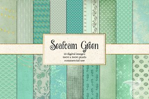 Seafoam Green Digital Paper
