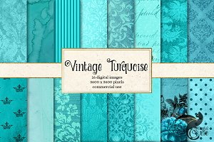 Vintage Turquoise Textures
