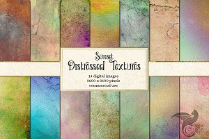 Sunset Distressed Textures