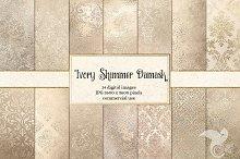 Ivory Shimmer Damask Textures