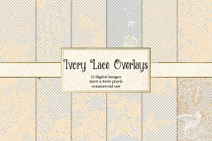 Ivory Lace Overlays