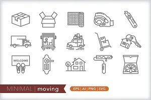 Minimal moving icons