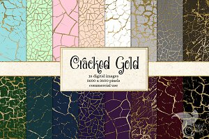 Cracked Gold Textures