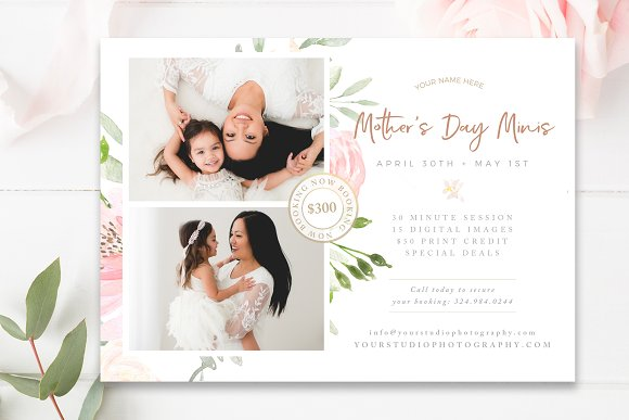 Mommy Me Mini Session Template