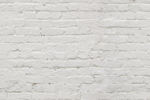 Seamless white brick background.
