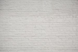 White brick wall pattern background.