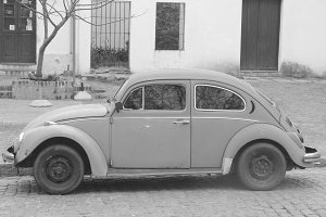 Vintage Volkswagen Black and White