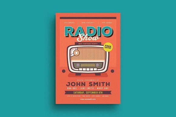 Retro Radio Event Flyer