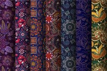 7 Seamless Vector Jeans Patterns