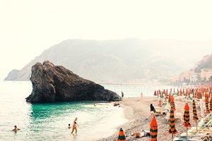 Classic Italian beach scene