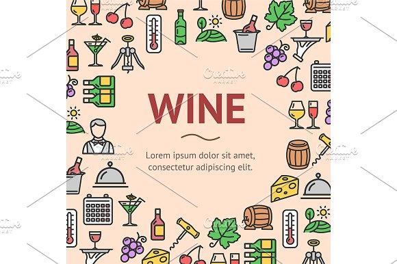 Wine Drink Signs Round Design