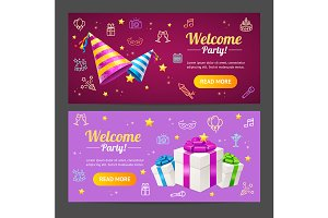 Welcome Party Template Card