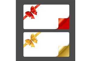 Gift Card Template, Ribbon Bow