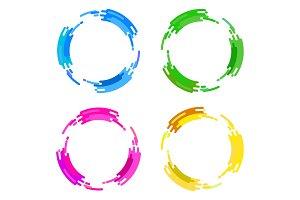 circle flat color frames
