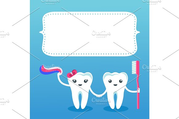 Cute Smiling Happy Tooth Card