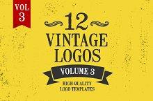 Vintage Logo Design Templates Vol. 3
