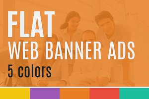 Flat Web Banner Ads