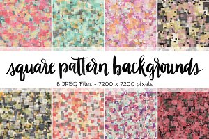 Square Pattern Backgrounds Volume 2