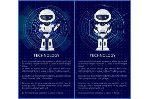 Technology Collection of Robot Vector Illustration
