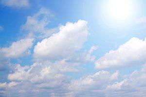 Bright, blue sky