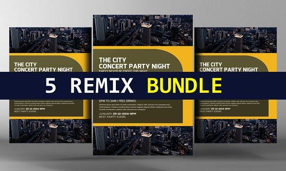 5 Remix Business Flyers Bundle