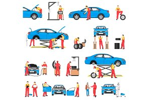 Car Repairement Service with Professional Workers