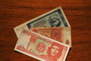 vintage money of communist countries