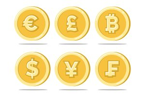 Currency gold coins