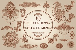 Tattoo and Henna set