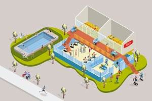Isometric Gym and Swimming Pool