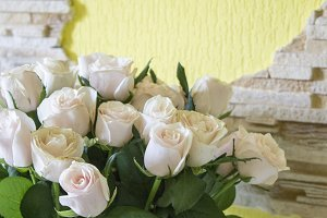 Bouquet of white roses.