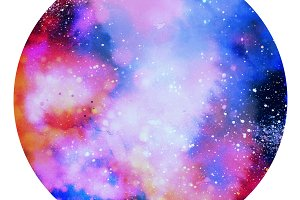 watercolor space | JPEG