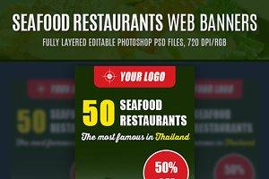 Seafood Restaurants Web Banners