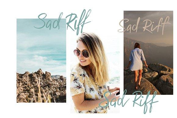 Sad Riff With 6 Stylistic Sets