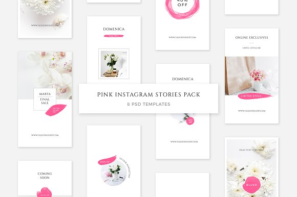 Pink Instagram Stories Pack