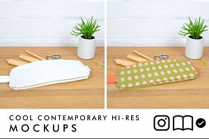 Pencil case / zipper pouch mockup
